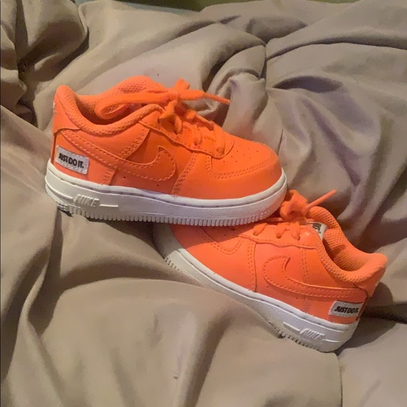 Nike Other - Bright orange Air Force 1's
